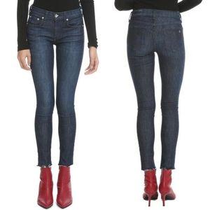 Rag & Bone Ankle Skinny Raw Hem Jeans